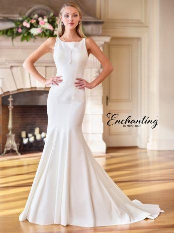 Νυφικό-φόρεμα-εξαιρετικής-εφαρμογής -σατέν-σε-γραμμή-τρομπέτα-Enchanting-218170-VENETTI