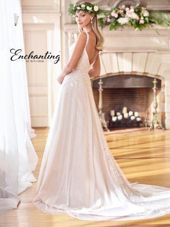 Νυφικό-από-δαντέλα-και-μεταξωτό-σιφόν-Αγγλίας-σε-Α-γραμμή-Enchanting-218171-VENETTI