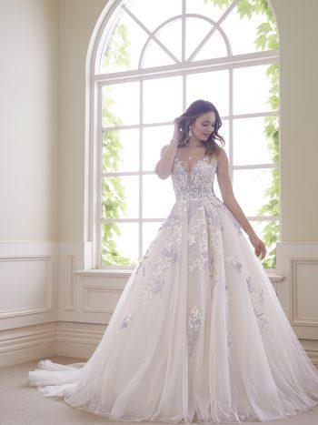 πριγκιπικό-νυφικό-τούλι-δαντέλα-οργάντζα-πλάτη-κορσέ-Y21834-Sophia-Tolli-VENETTI