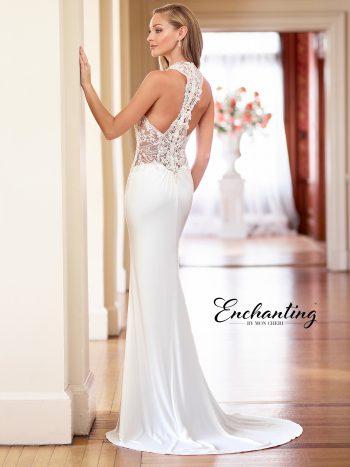 Αμάνικο-νυφικό-φόρεμα-σε-γραμμή-fit-and-flare-Enchanting-218180-VENETTI