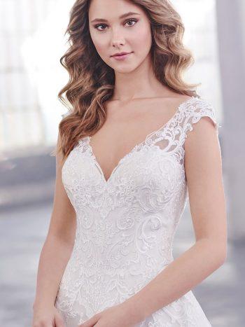 νυφικό-φόρεμα-γραμμή-α-οργαντζα-απλό-κλασσικό-δαντέλα-219207-venetti-mon-cheri