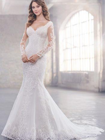νυφικό-φόρεμα-δαντέλα-τούλι-γραμμη-γοργονα-μακρυ-μανίκι-219211-VENETTI-Mon-Cheri