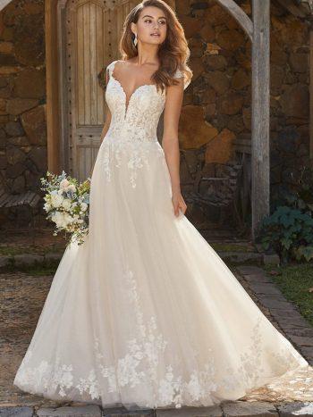 νυφικο-φορεμα-γραμμη-α-τουλι-δαντελα-glitter-ρομαντικο-αερινο-sophia-tolli-venetti-y12011