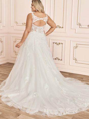 νυφικο-φορεμα-τουλι-glitter-παγιετα-δαντελα-γραμμη-α-πλατη-κλειδαροτρυπα-sophia-tolli-y12035-venetti
